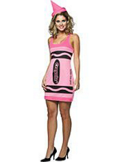 Crayola Tickle Me Pink Crayon Costume Adult