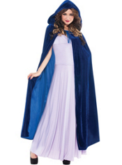 Blue Hooded Cape Adult