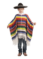 Colorful Mexican Poncho Child