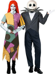 Sally and Jack Skellington Nightmare Before Christmas Couples Costumes