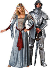 Maid Marian and Knight in Shining Armor Couples Costumes