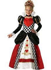 Red Queen of Hearts Costume Girls Elite