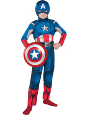 Classic Captain America Costume Boys
