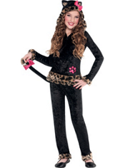 Leopard Grrrl Kitty Costume Girls