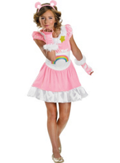 Girls Cheer Bear Costume - Care Bear