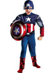The Avengers Captain America Muscle Costume Boys