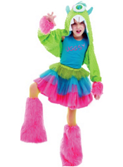 Ferociously Furry Monster Costume Girls Deluxe