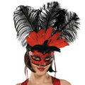 Moulin Rouge Feather Mardi Gras Mask