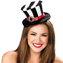 Mini Striped Top Hat