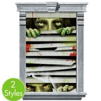 Peeping Zombie Window Magic Decorations 2pc