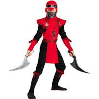 Red Viper Ninja Costume Boys Deluxe