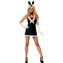 Black Tie Bunny Costume Adult
