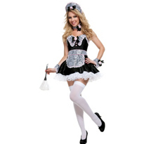 Racy Rose Maid Costume Adult Deluxe