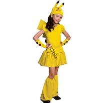 Girls Pikachu Costume Deluxe - Pokemon